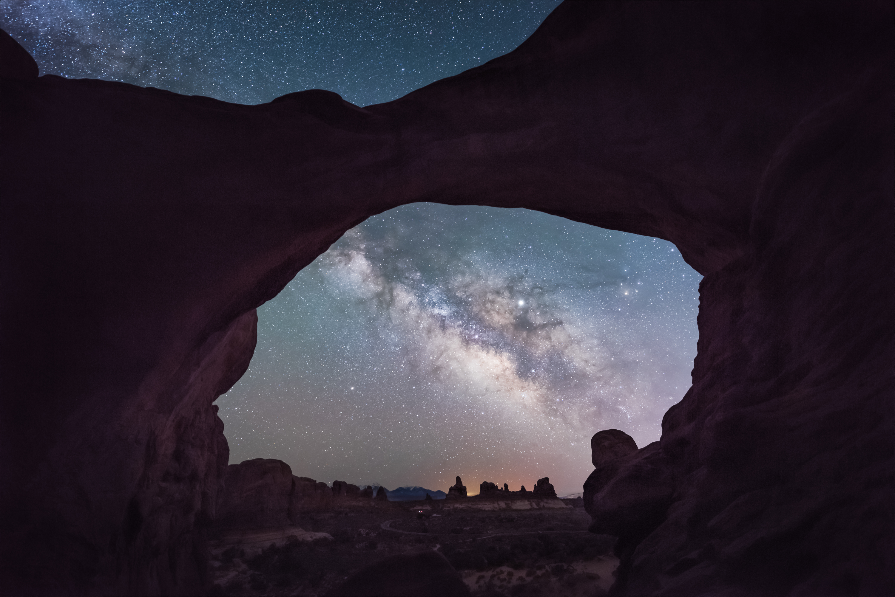 Window to the Universe - Double Arch, Utah