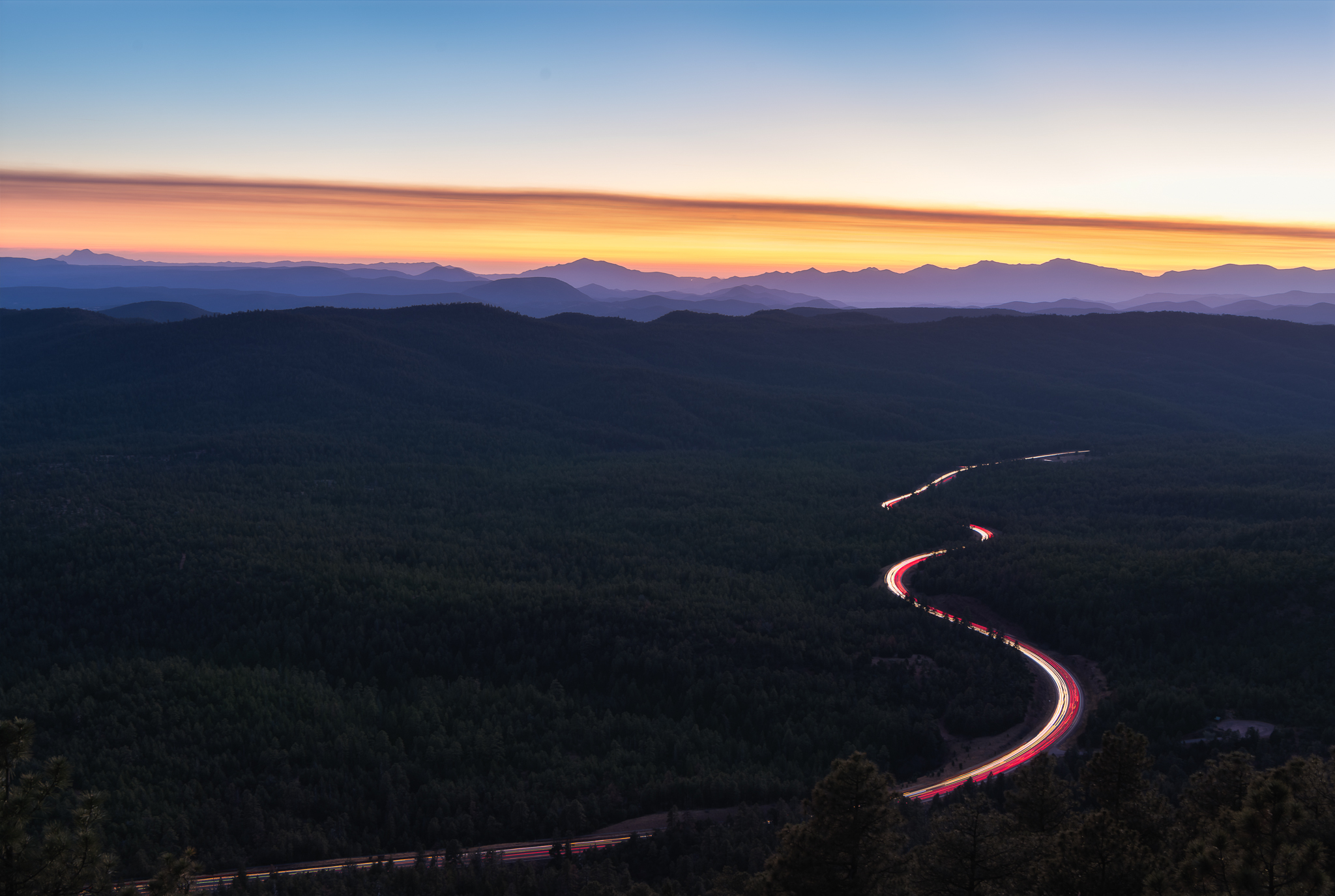 Sunset at the Mogollon Rim, Arizona
